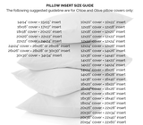Pillow Insert Size Guide for Decorative Pillows