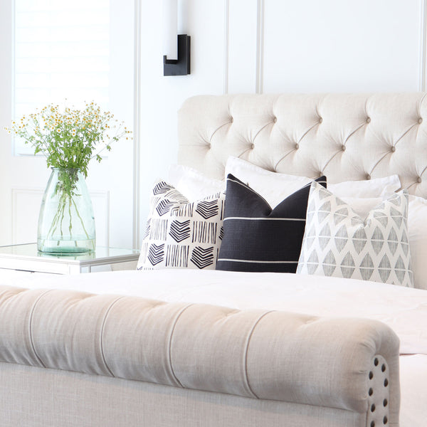 Black and White Designer Throw Pillow Combinations