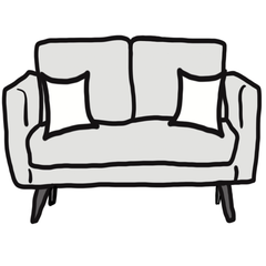 decorative throw pillow size guide for minimalist loveseat