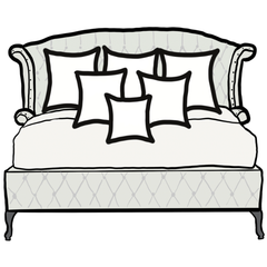 decorative throw pillow size guide for maximalist king bed