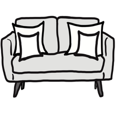 decorative throw pillow size guide for maximalist loveseat