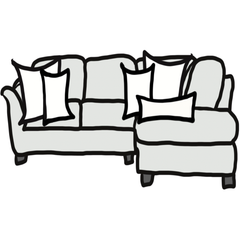 decorative throw pillow size guide for maximalist sectional sofa