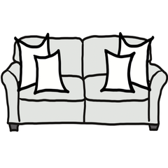 decorative throw pillow size guide for maximalist standard sofa
