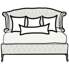 decorative throw pillow size guide for minimalist king bed
