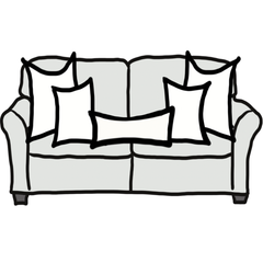 decorative throw pillow size guide for Chloe and olive standard sofa