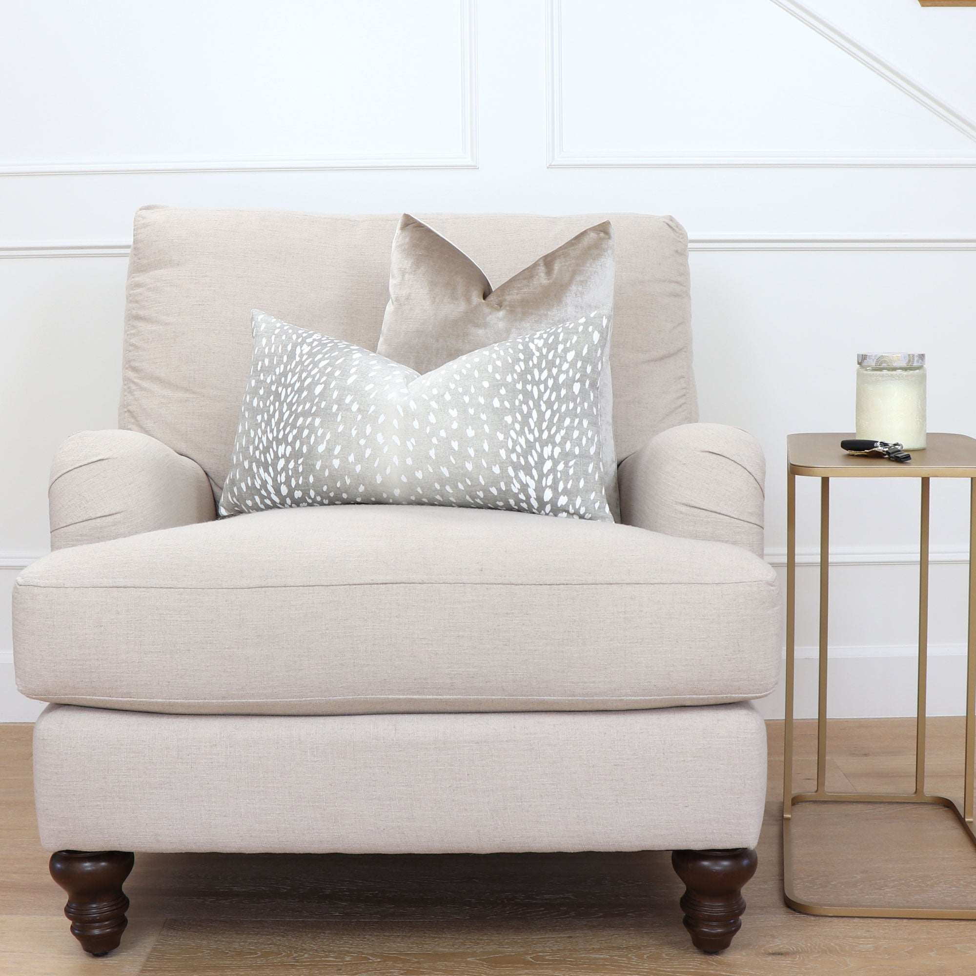 Awesome Chloe And Olive Pillow Shop Designer Antelope Fawn Linen Andrewgaddart Wooden Chair Designs For Living Room Andrewgaddartcom