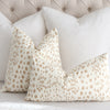 Brunschwig Fils Les Touches Sand Throw Pillow Cover in Bedroom