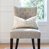Brunschwig Fils Les Touches Sand Lumbar Throw Pillow Cover on Accent Chair