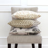 Brunschwig Fils Les Touches Sand Throw Pillow Cover with Matching Pillows