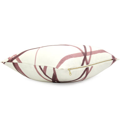 Side View Channels Plum Throw Pillow