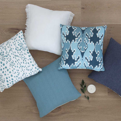 Les Touches Aqua Pillow Cover in Pillow Mix