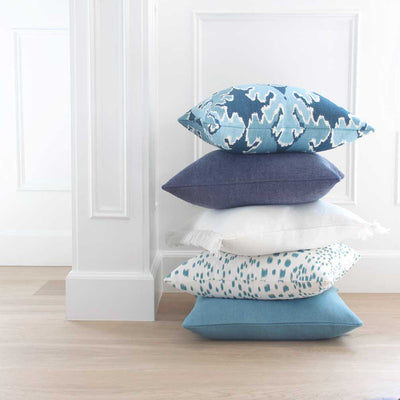 Les Touches Aqua Pillow Cover with Complementing Pillows