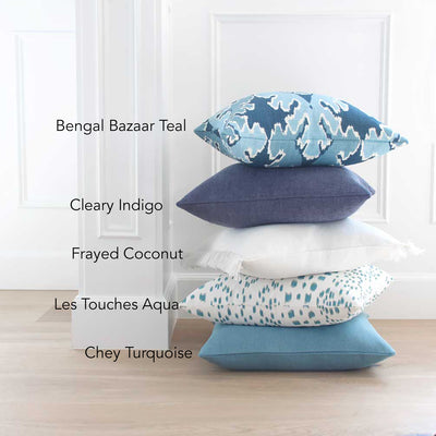 Les Touches Aqua Pillow Cover