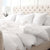 Fitted Bedding Sheet European White Linen OEKO-TEX for King or Queen Bed  Edit alt text