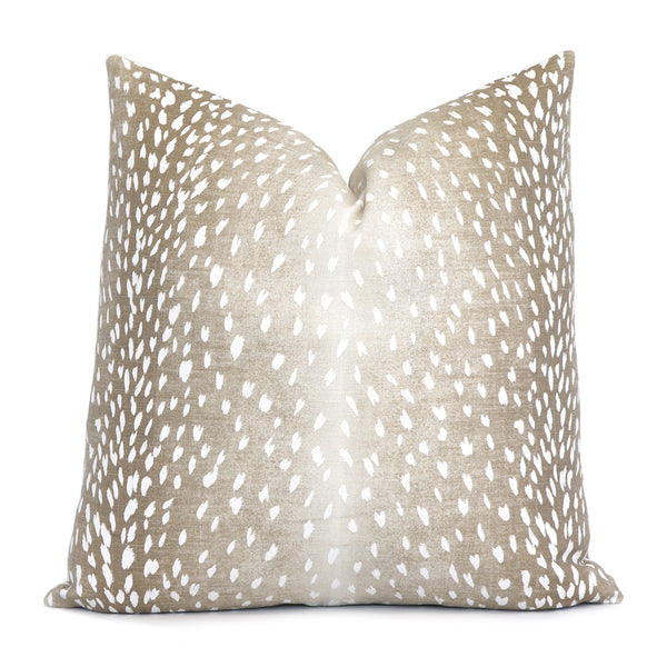 Antelope Beige Designer Throw Pillow Cover