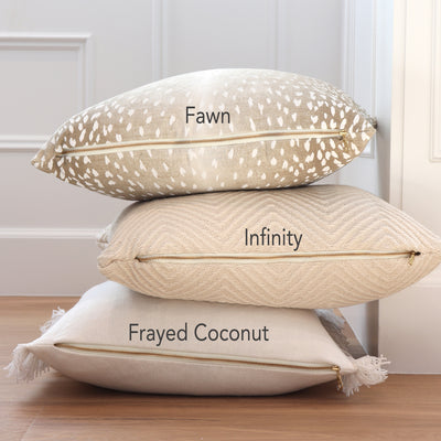 Fawn Pillow Cover with Neutral Pillow Covers