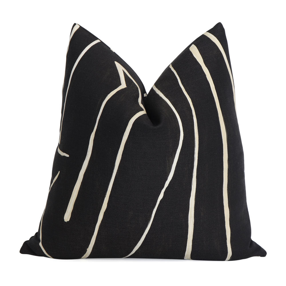 Kelly Wearstler Graffito Onyx Throw Pillow Cover