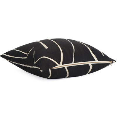 Kelly Wearstler Graffito Onyx Throw Pillow Cover with Gold Zipper