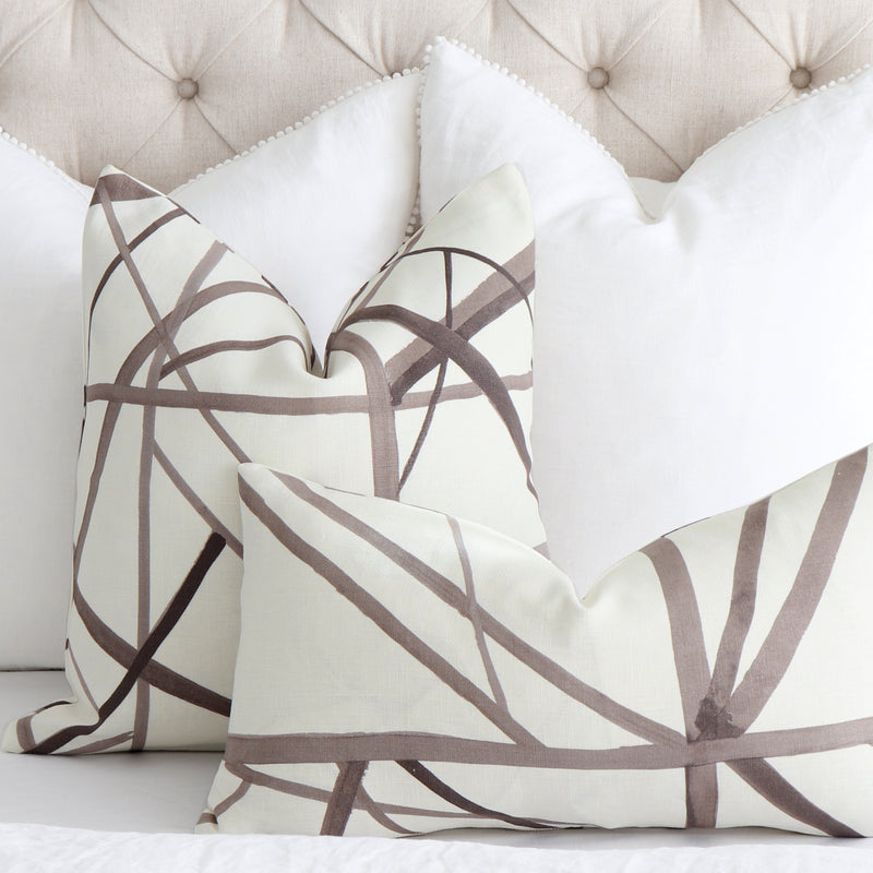 Channels Kelly Wearstler Taupe Throw Pillow Cover