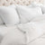European White Linen OEKO-TEX Bedding with Pillow Case Covers with Duvet  Edit alt text
