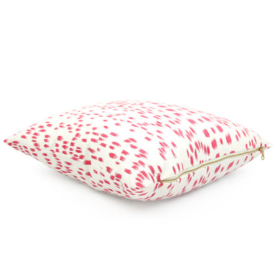 Side View Les Touches Pink Throw Pillow