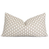 Schumacher Betwixt Stone Gray Lumbar Throw Pillow Cover