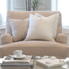 Schumacher Betwixt Stone Gray Throw Pillow Cover in Living Room