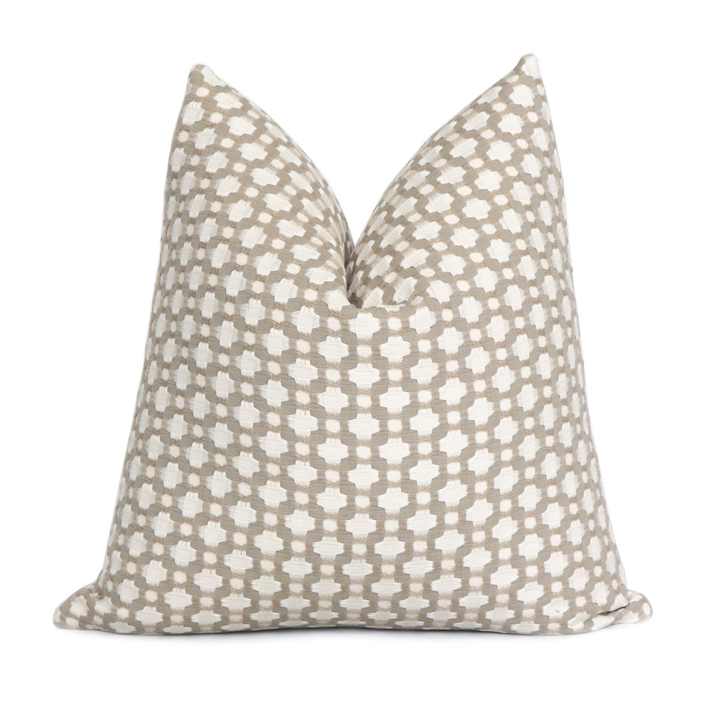 Schumacher Betwixt Stone Gray Throw Pillow Cover