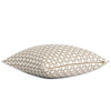 Schumacher Betwixt Stone Gray Throw Pillow Cover with Zipper