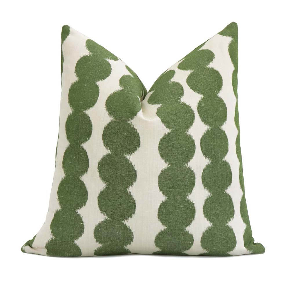 Schumacher Full Circle Jungle Green Decorative Pillow Cover