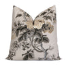 Schumacher Pyne Hollyhock Grisaille Throw Pillow Cover