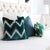 Schumacher Shock Wave Velvet Peacock Designer Throw Pillow Cover