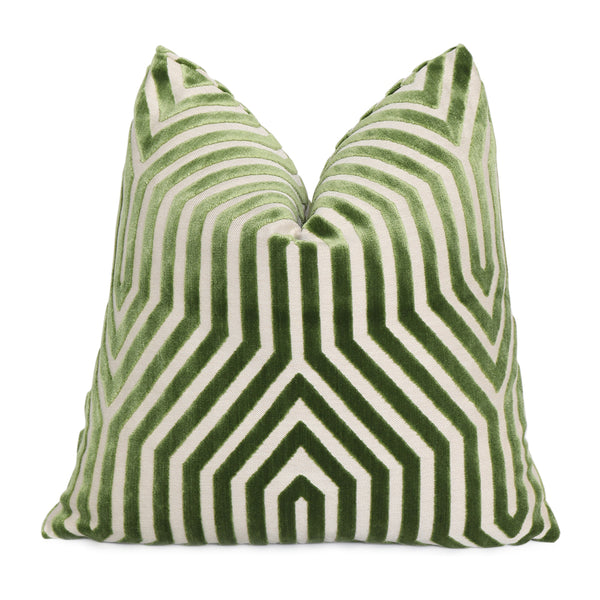 Schumacher Vanderbilt Lettuce Cut Velvet Designer Throw Pillow Cover