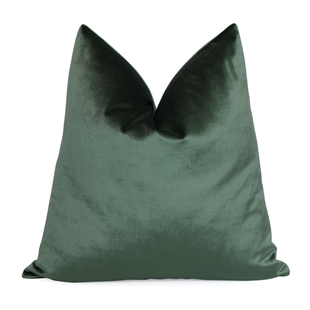 Velluto Green Velvet Pillow Cover
