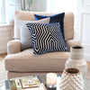 Velluto Blue Velvet Pillow Cover with Matching Throw Pillows