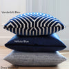 Velluto Blue Velvet Pillow Cover with Blue Throw Pillows