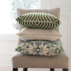 Vanderbilt Lettuce Velvet Pillow Cover with Exposed Brass YKK Zipper