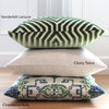 Vanderbilt Lettuce Velvet Pillow Cover with Green Pillows