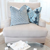 Vanderbilt Marine Velvet Pillow Cover with Matching Throw Pillow