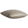 Velluto Champagne Beige Velvet Throw Pillow Cover with Gold Zipper