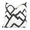 Front View Zimba Charcoal Pillow Cover