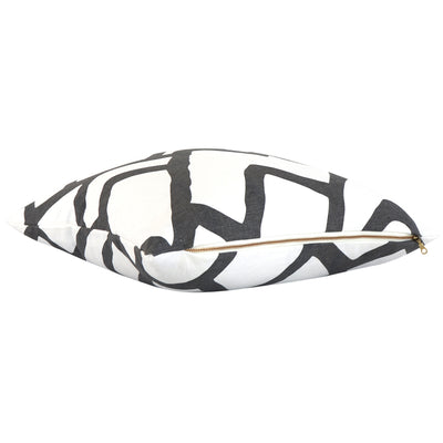 Side View Zimba Charcoal Pillow Cover