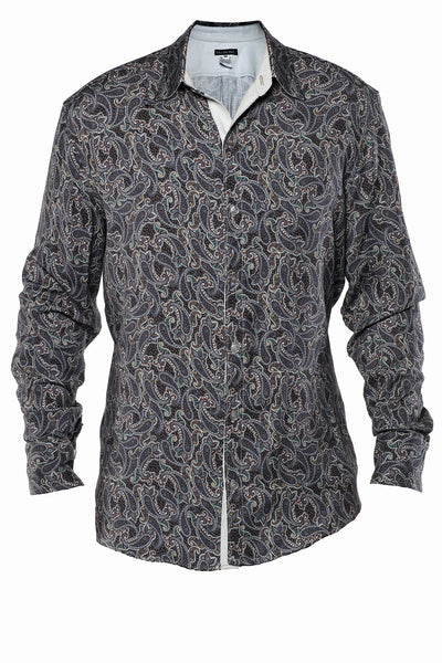 Ibra Paisley Button Up