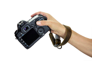 Portage Lutsen Leather and Felt Camera Wrist Strap