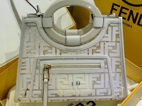 Bolsa Runway Fendi Glass Shopper pequena