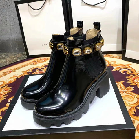 Bota Ankle Boot Cristal Gucci