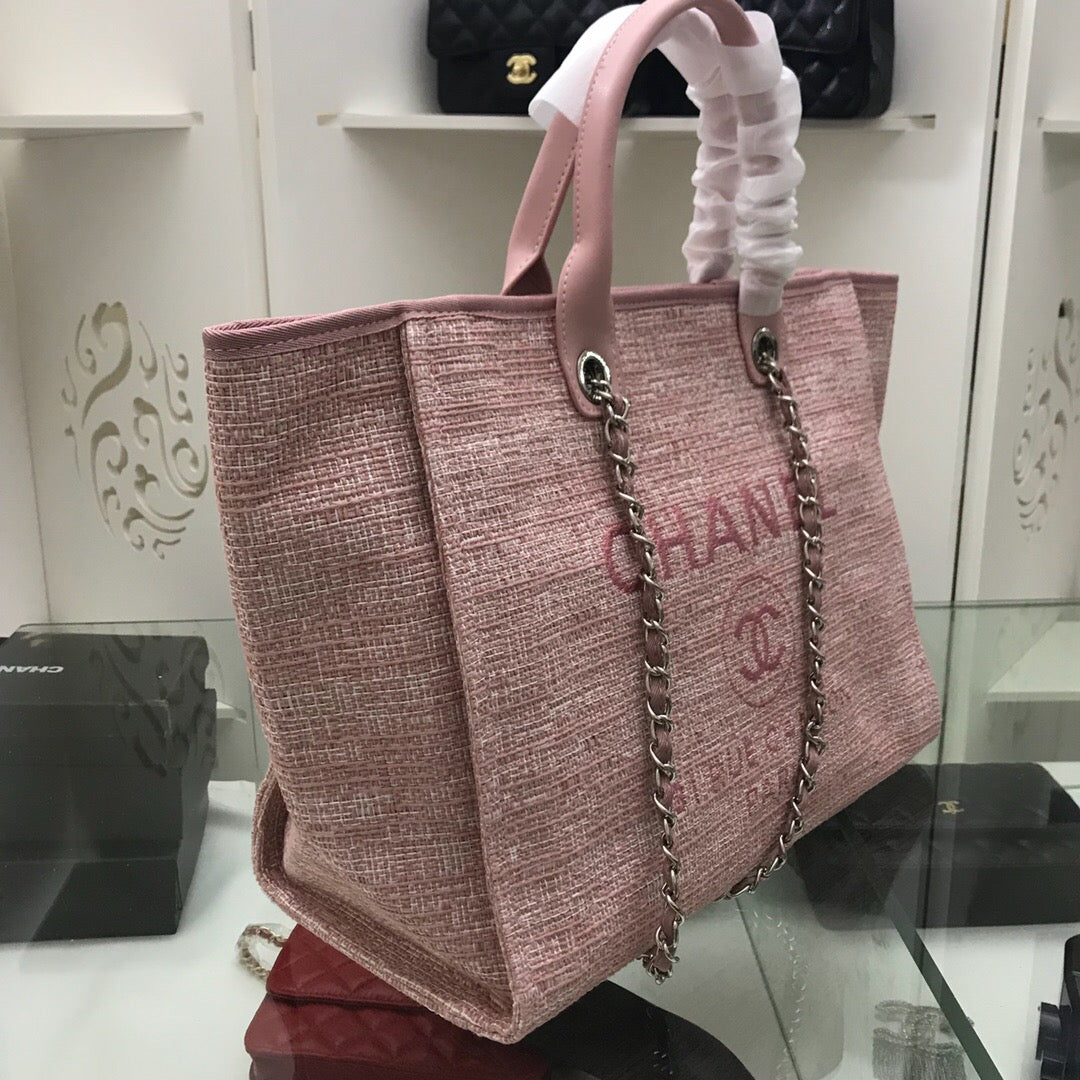 Bolsa Chanel Deauville Tweed Praia Canvas - Loja Must Have