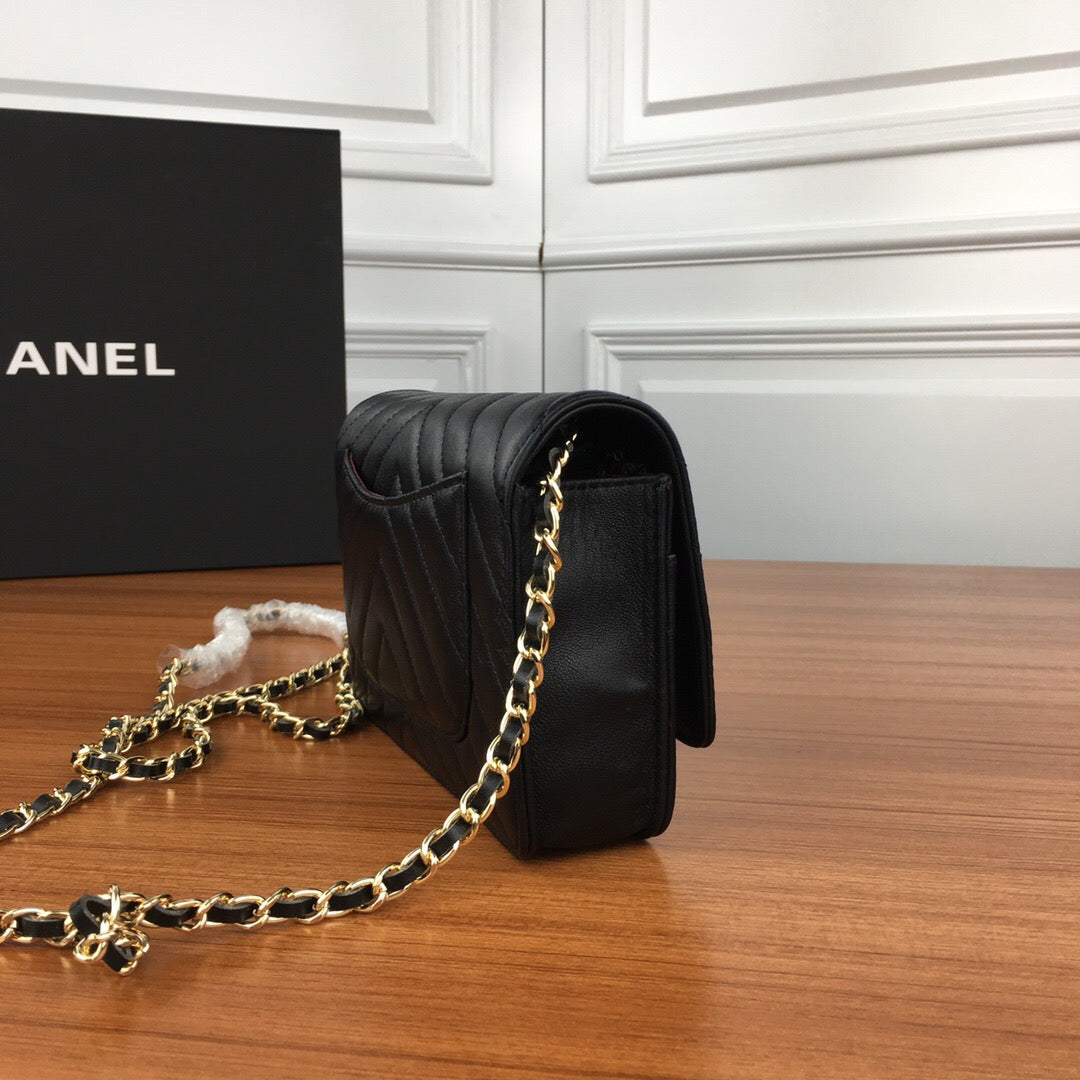 Bolsa Chanel Wallet on Chain Chevron - Loja Must Have