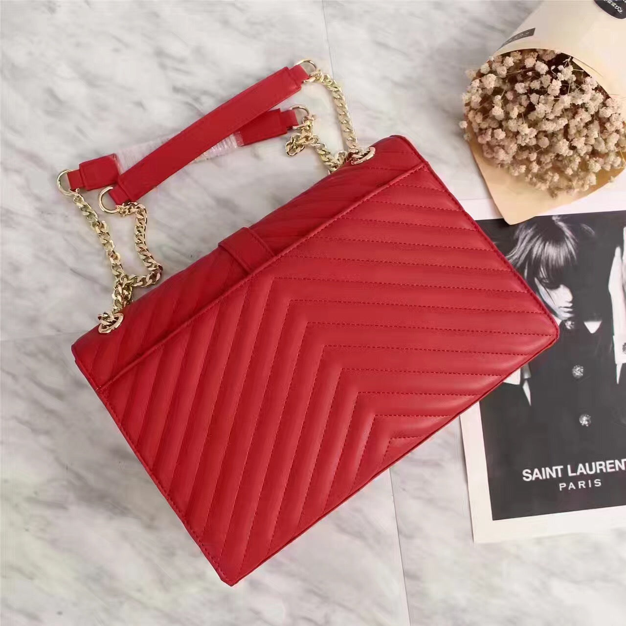 Bolsa Lou Lou Chain YSL Saint Laurent - Loja Must Have