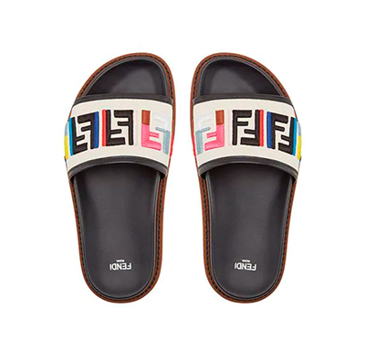 Sandália Rasteira Chinelo Fendi FF Colors Slide - Loja Must Have